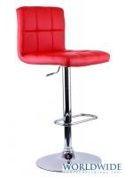 MAX GAS LIFT STOOL, RED - swivel, adjustable height, also available in white, brown and black