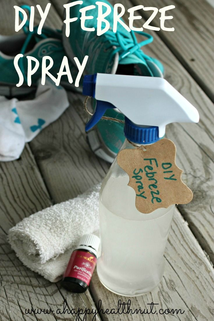 DIY Febreze Spray-- the basics with my own doTERRA oils and this should be wonderful. (Nothing against YL-just trust doTERRA)