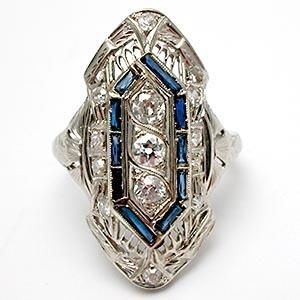 Art Deco jewelry images.
