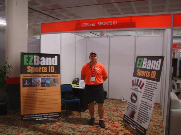 Brian ready for duty at the EZBand Stand at IMSA 2013.
