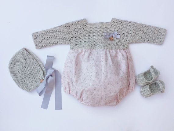 Conjunto Para Bebé: Ranita Capota Patucos por MarigurumiShop