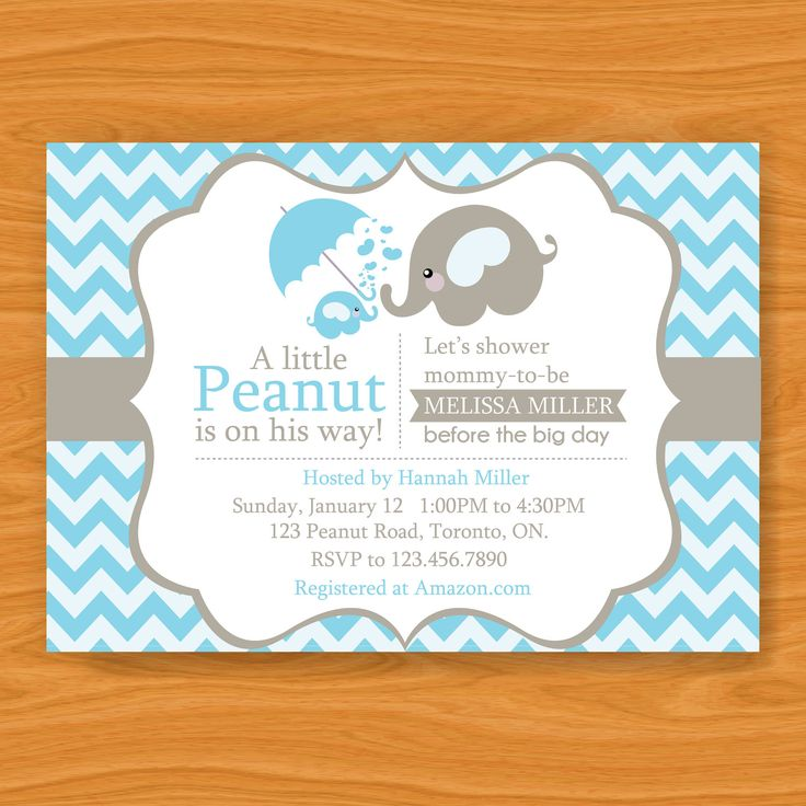 40 best images about baby shower on pinterest | elephant baby, Baby shower invitations