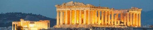 The Parthenon at night
