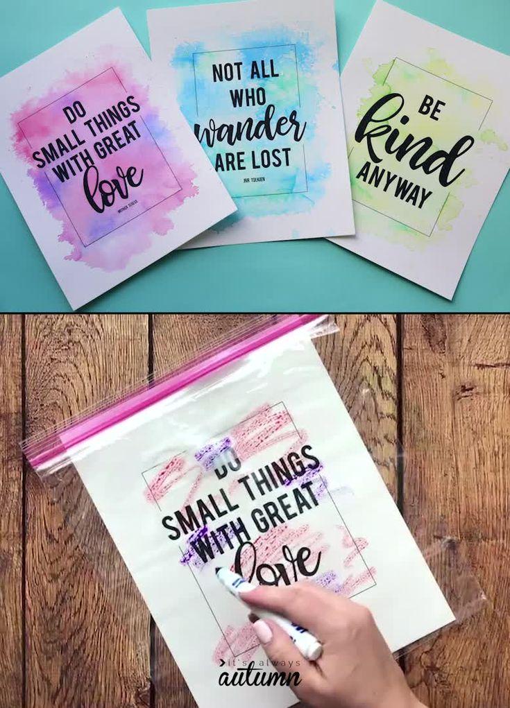 DIY Watercolor Prints