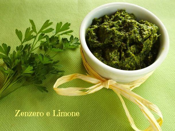 SALSA VERDE al PREZZEMOLO   ricetta Bimby   Zenzero e Limone