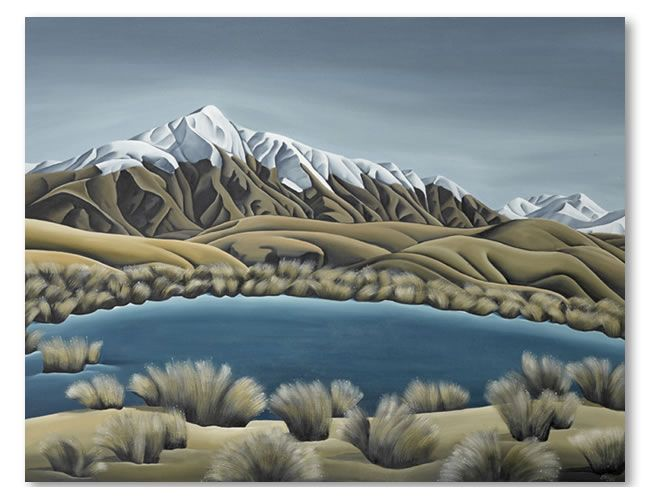 Mountain Tarn. Diana Adams, NZ Artist.