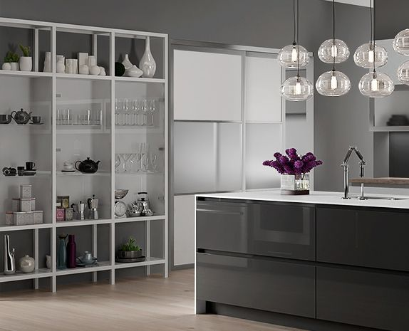 a sleek yet practical take on open shelving this custom shelving unit is