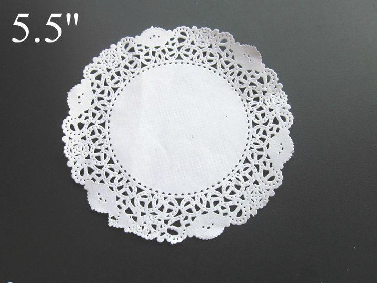 5.5 дюйм(ов) Белое кружево бумаги круглая форма Бумаги Салфетка торт пищевой бумаги площадку Бесплатная Доставка