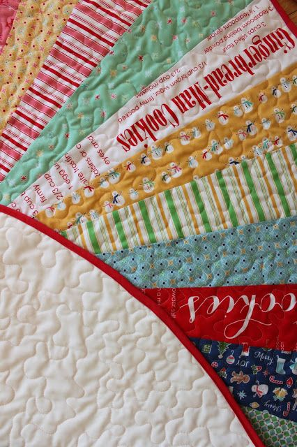 Quilted Tree Skirt Modern Cozy Christmas Fun Decor Diameter Take On Fifties Color