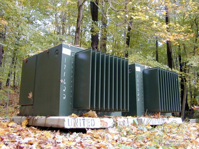 Separate Services: Twin General Electric No. 868 High Voltage Transformers 13,800 Volts
