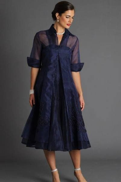 Navy Blue Mother of the Bride Dresses 2