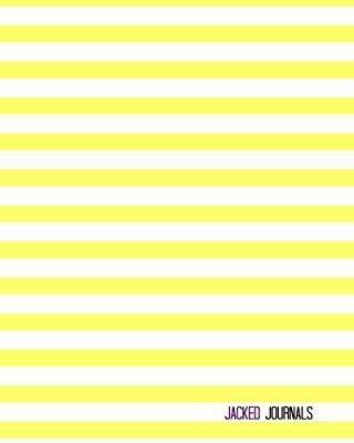 Jacked Journals: Bullet Grid Journal - Original, Striped Color - 185 Dot Grid Pages, 8 x 10 , Professionally Designed (Lemonade)