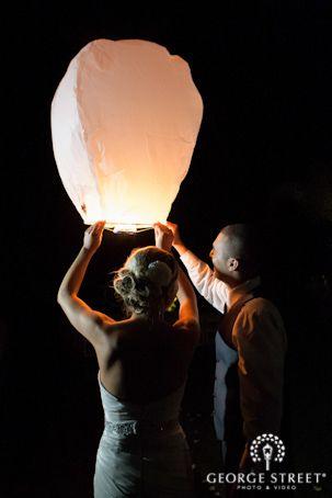 We love the idea of a paper lantern send-off! So unique!