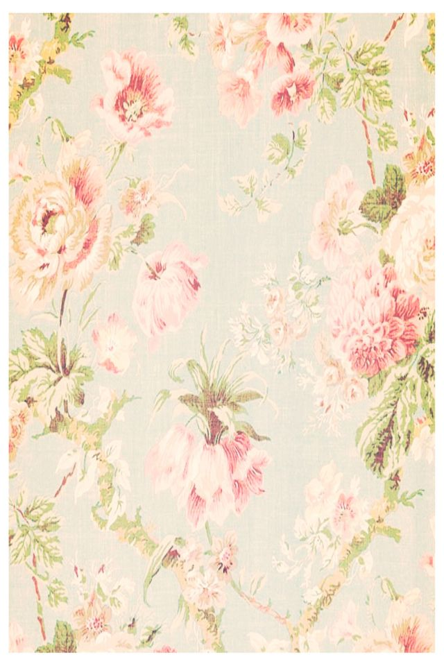 Vintage flower wallpaper   Alyssas room   Pinterest   Vintage Flowers Wallpaper, Wallpapers and