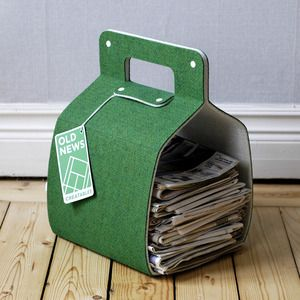 mag bag: Paper Holders, Old Newspaper, Idea, Magazines Storage, Paper Bags, Magazines Holders, Magazines Racks, Tennis Court, Letters Boxes