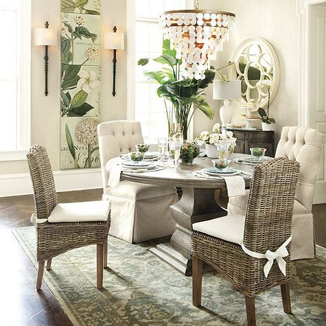 Gwyneth hand knotted rug by ballard designs dining room for Ballard designs dining room