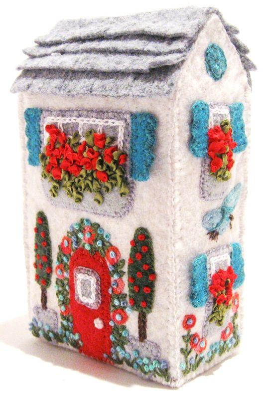 7 best Fabric Houses images on Pinterest | Felt house, Fairy houses Soap Box House Designs on storage box houses, cereal box houses, soap stone houses, salt box houses,