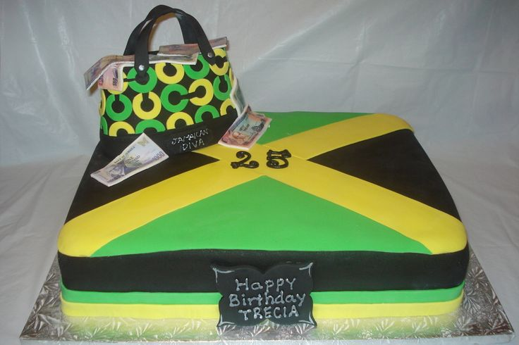 Jamaican Cake Designs | what he wanted the cake to look like: Jamaican flag, with jamaican ...