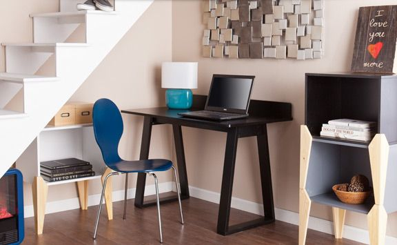Organize your office with shelving and storage units that have a place for everything. #shopko #hollyandmartin