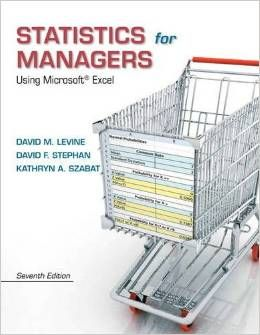 Test Bank Statistics for Managers Using Microsoft Excel 7th Edition by David M. Levine
