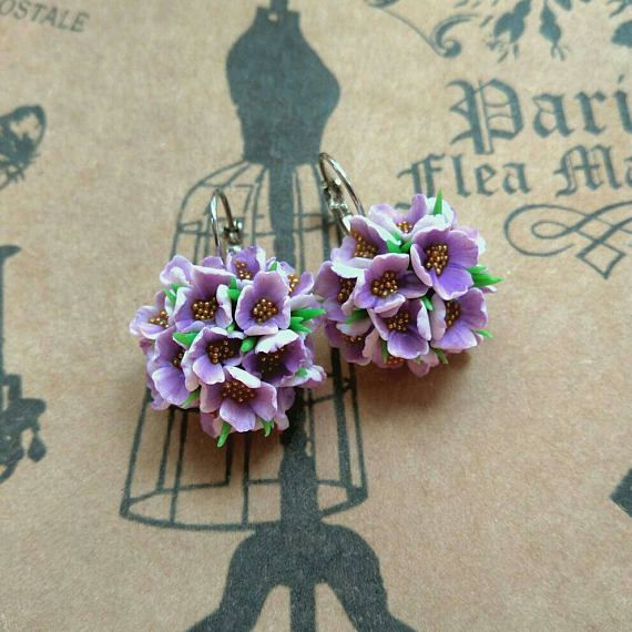 Check out this item in my Etsy shop https://www.etsy.com/ru/listing/521600974/earrings-with-flowers-polymer-clay