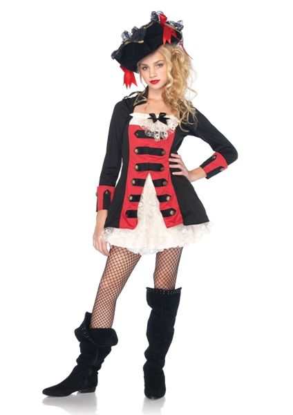 teen charming pirate captain costume pirate halloween costumes for teenage girls - Halloween Costumes Kennesaw Ga