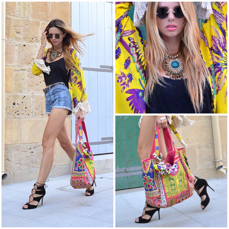 Η Evelyn Kazantzoglou σε gypsy-bohemianchic look με πέδιλα #SanteShoes Summer 2014 #SanteLook #SanteBloggersSpot