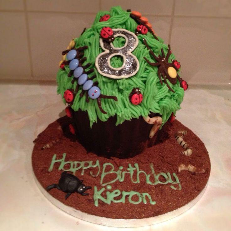 Bug themed cupcake
