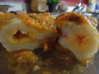 Cocino por amor: Ñoquis de papa rellenos de jamón y queso cheddar