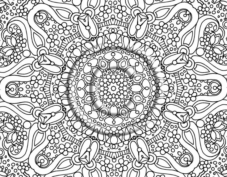abstract coloring pages free large images - Coloring Pages Abstract Printable