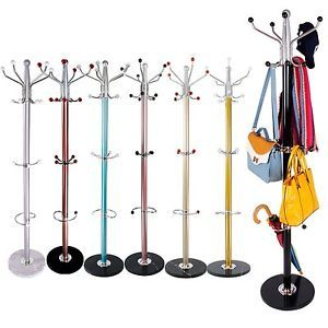Colorful Clothes Umbrella Bag Hat and Coat Stand Rack Hanger with Marble Base | eBay