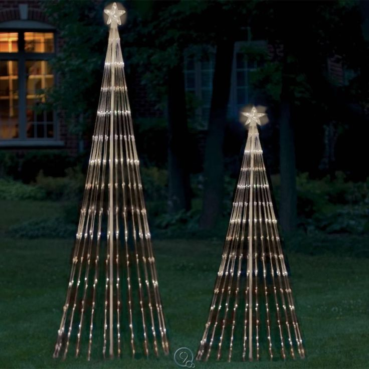 Clear White Lights 9 Foot LED Light Show Artificial Christmas Tree SEE NOTES