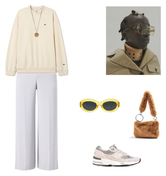 """""""Untitled #227"""" by charlottemartin ❤ liked on Polyvore featuring New Balance, Dries Van Noten, Roland Mouret, Native Gem and Topshop"""