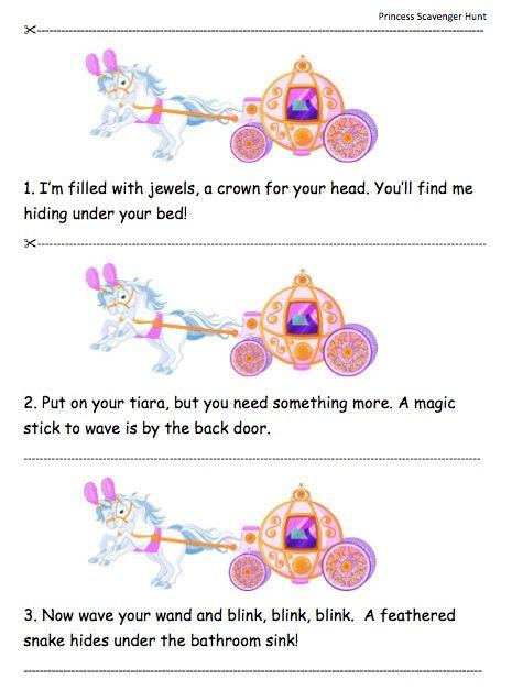 Princess Scavenger Hunt Lite For Little Princesses An