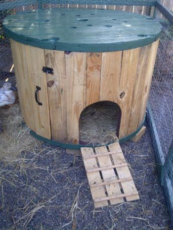 Cable Spool Duck House | 12 Duck Coop Ideas For Your Homestead
