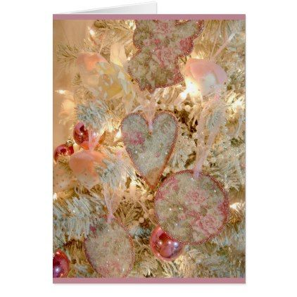 Victorian Hearts & Flowers Christmas Card | Zazzle.com – Teresa Wible