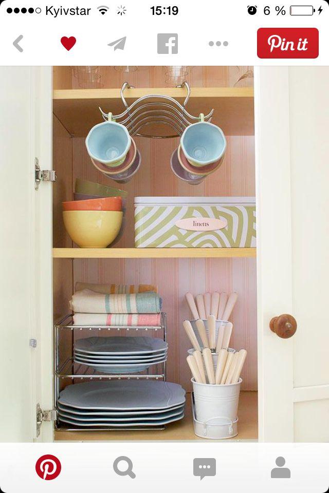 Организация кухонного шкафчика