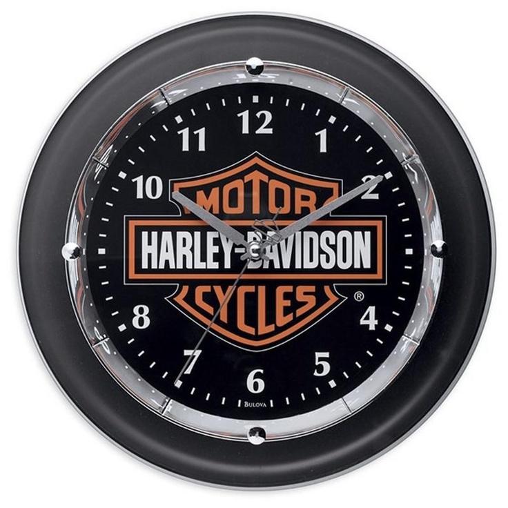 Harley Davidson Motorcycle Bar Shield Logo Neon Table Or: 35 Best Images About Harley-Davidson Clocks & Pub Lights