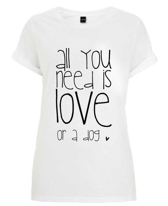 All you need is love & dog als Frauen T-Shirt
