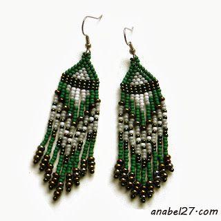 Зеленые серьги из бисера - 169 / 365