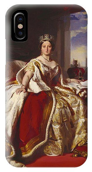 Queen IPhone X Case featuring the painting Queen Victoria 1859 by Winterhalter Franz Xaver