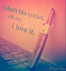 I don't like cricket oh no. I hate it, oh yeah. I don't like cricket, oh no. Don't get it.