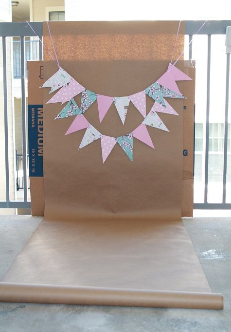 Backdrop for DIY Cake Smash Photo Shoot