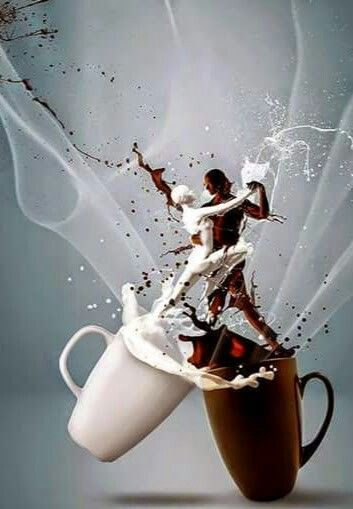 Coffee with milk. ..°○°Good Mornin