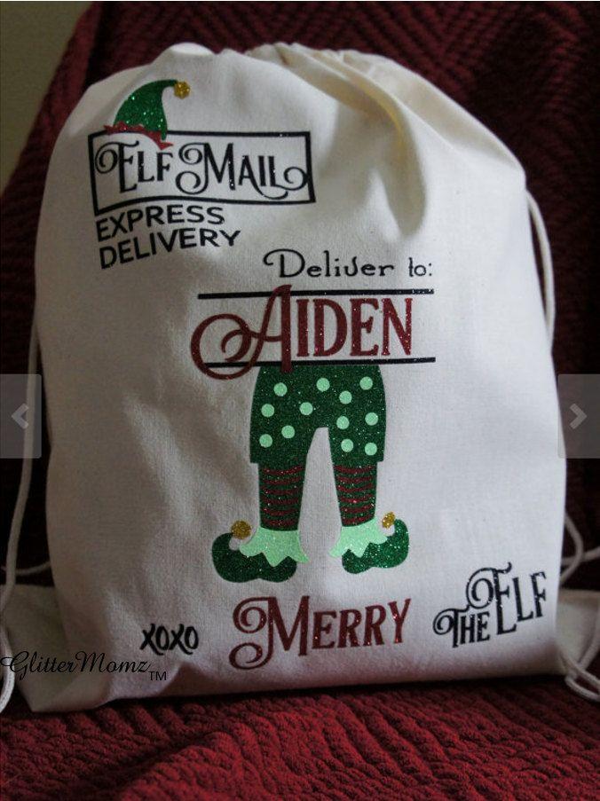 Saco de correo de Elf  Navidad personalizada niño elfo