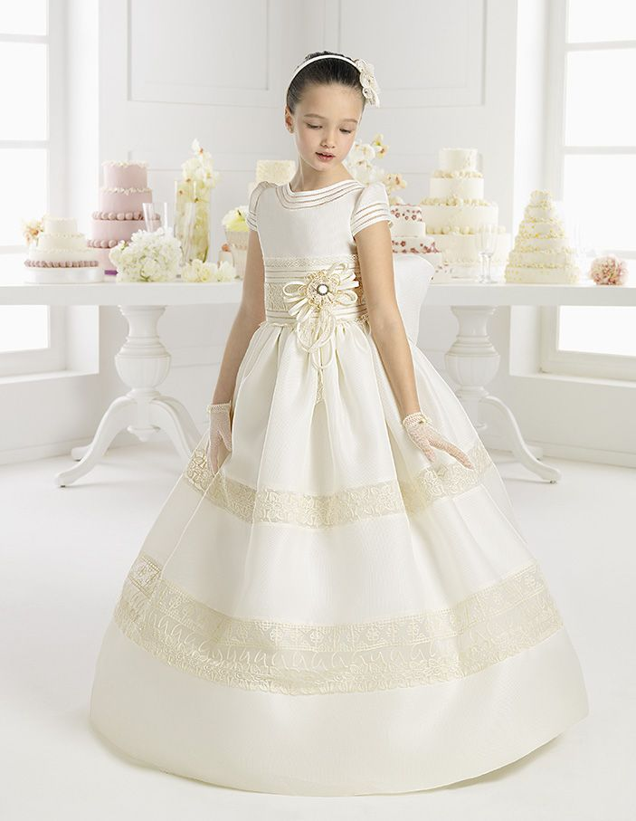 MARINA vestido de comunión Rosa Clara
