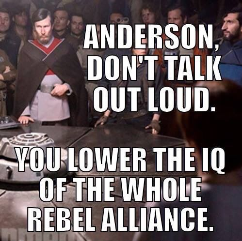 "Image credit to Laura ""@alura81"" on Twitter. <<< Did anyone else exclaim ANDERSON when seeing Rogue One or was that just me?"