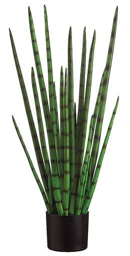 79.99 SALE PRICE! This lifelike Snake Grass comes inside a black plastic pot that can be exhibited either indoors or out. The artificial snake grass measures...