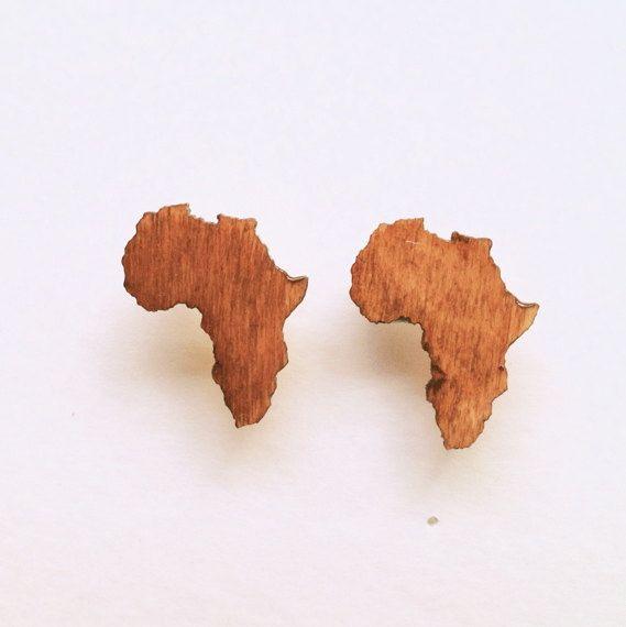 Africa Earrings Pop Art Tribal Jewelry Urban Fashion by Triburban, $10.00