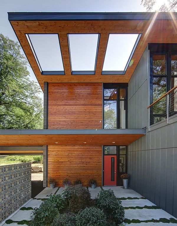 mid century modern ranch house renovation cedar planks modern ranch and mid century modern - Modern Home Siding